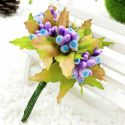 Mini Bouquet Flower Stamen - Big Glass Head, Light purple, 10 pieces, Long 9cm, [ST1120]